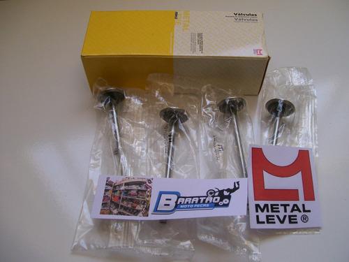 kit válvulas admissão escape metal leve honda twister 250