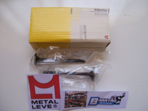 kit válvulas admissão escape metal leve strada cbx 200 nx xr