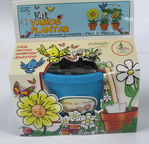 kit vamos plantar flores do campo - combo 10 unidades