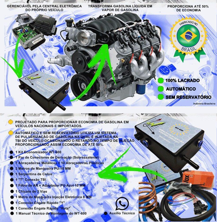 74f929fe527 Kit Vapor De Gasolina Automático Wt-600 - Economiza Até 50% - R  785 ...