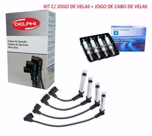 kit velas + cabos de velas gm corsa wind super 1.0 gasol. 8v