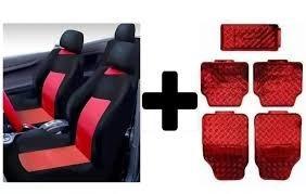 kit vermelho capa banco carro+tapete ford ka 2009 2010 2011