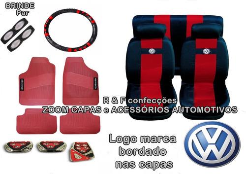 kit vermelho gol bola capa bancos tapetes pedaleira volante