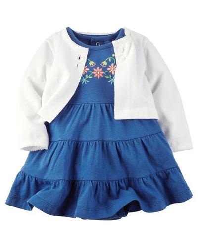 kit vestido-cardigan azul