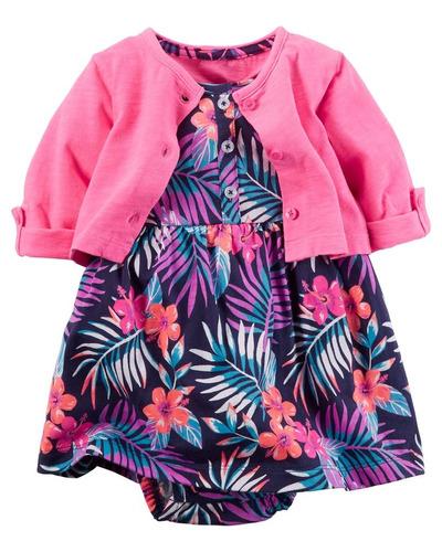 kit vestido-cardigan estampado
