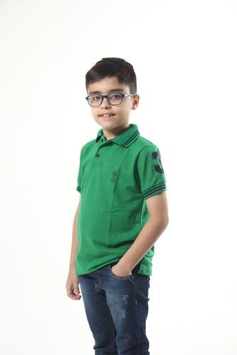 kit vestido e camisa polo tal mãe tal filho verde esperança