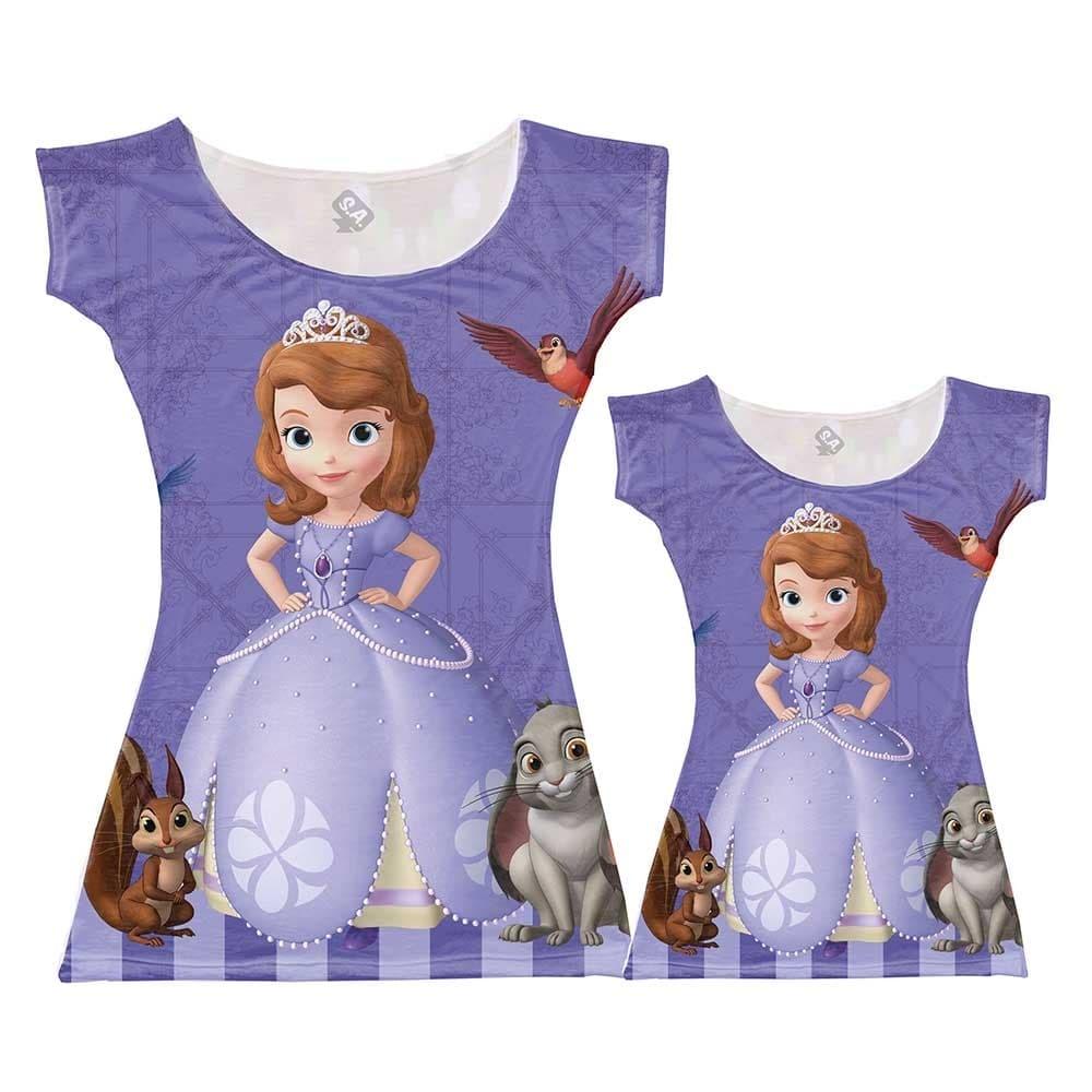 5fac3bfd93c6f1 Kit Vestido Tal Mãe Tal Filha Princesa Sofia
