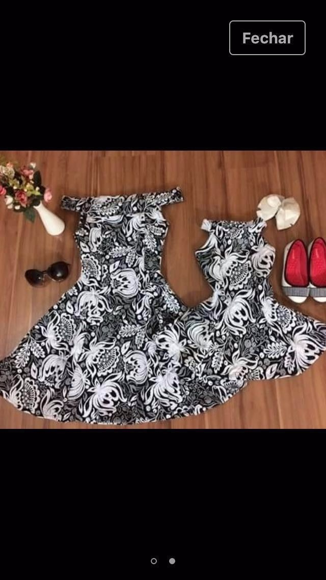 0341d63f8e8055 Kit Vestidos Tal Mãe Tal Filha Roupas Femininas Moda Verão