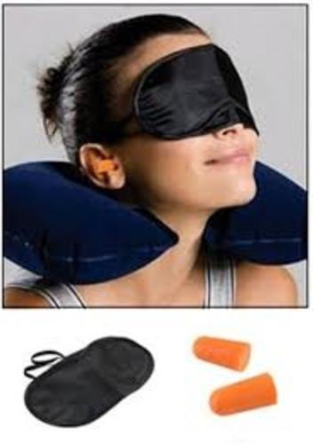 kit viajero almohada de viaje + antifaz de dormir + tapones