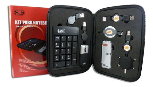 kit viajero para notebook gtc ckg-c02 + estuche
