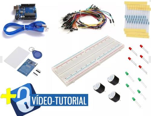 kit vídeo aula placa uno, controle de acesso rfid 35 pcs kl