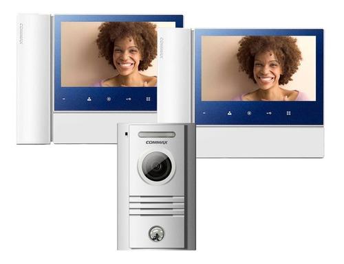 kit video portero 2 monitores 7 pulgadas frente metal commax