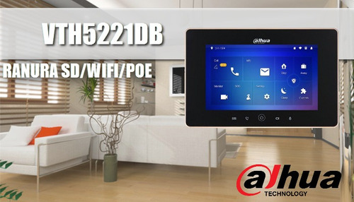 kit video portero dahua monitor ip touch de 7 pulgadas wifi