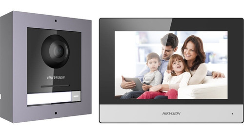kit vídeo portero ip 2mp + switch + tarjeta 16gb ds-kis602