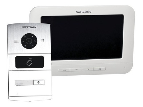 kit video portero ip touch 1.3 mpx hikvision app acceso p2p