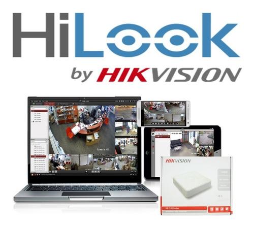 kit video vigilancia 4 cámaras hd 720p 1mp hilook 500gb