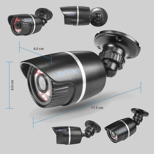 kit video vigilancia 4 camaras metalicas 2mp rollos 30m 500g