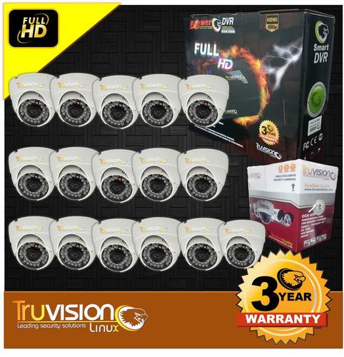 kit video vigilancia cctv dvr 16 canales+ camaras hd