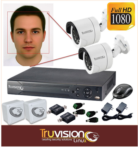 kit video vigilancia cctv dvr 4 canales hd +acceso truvision