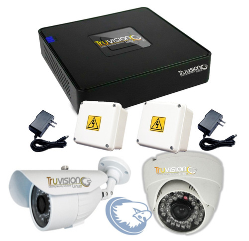 kit video vigilancia cctv dvr 4 canaleshd + cámarastruvision
