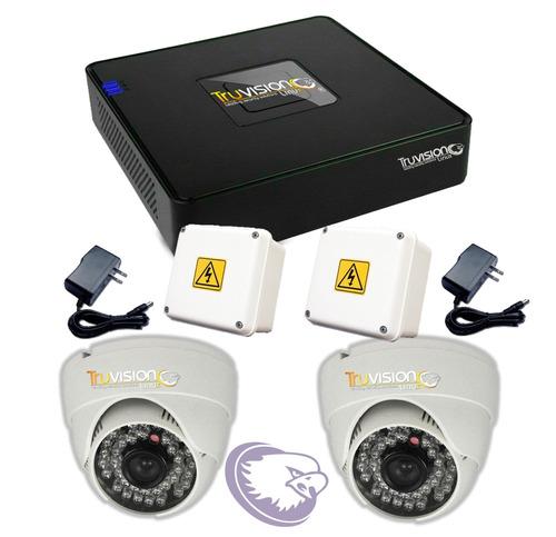 kit video vigilancia cctv dvr 4ch +camaras de seguridad hd