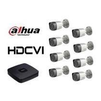 kit video vigilancia dvr 8 canales/ 8 cam hd/8 cables 20m
