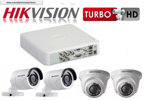 kit video vigilancia hikvision 4 cámaras hd 720p cctv