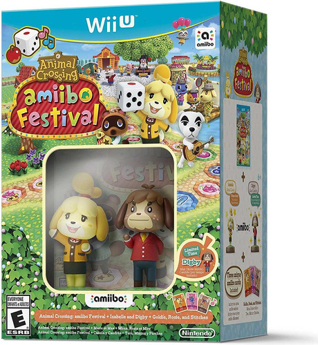 kit videojuego animal crossing/figuras amiibo nintendo wii u