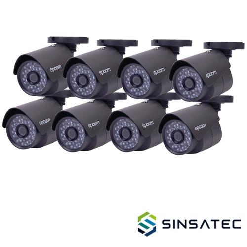 kit videovigilancia epcom 8 cámaras bala kevtx8t8b