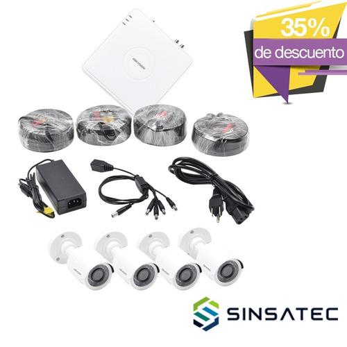 kit videovigilancia hikvision 4bullets hik720kit4