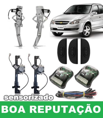 kit vidro elétrico corsa classic 2013 para 4 portas s/juros