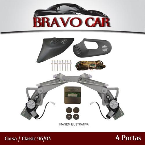kit vidro eletrico corsa / classic 4p diant 96 a 05 sensoriz