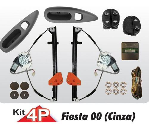 kit vidro elétrico fiesta street dianteiro com antiemagament