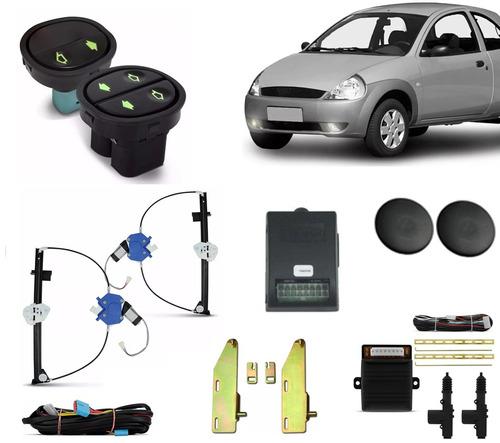 kit vidro elétrico ford ka 1997 até 2007 + trava + suporte