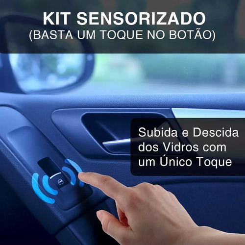 kit vidro elétrico gol g2 special 2002 sensor 2 portas vw02