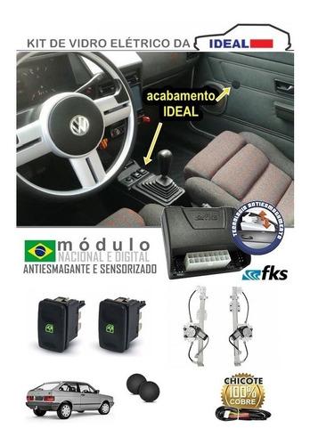 kit vidro elétrico gol quadrado 1993 2p sensorizado s/juros