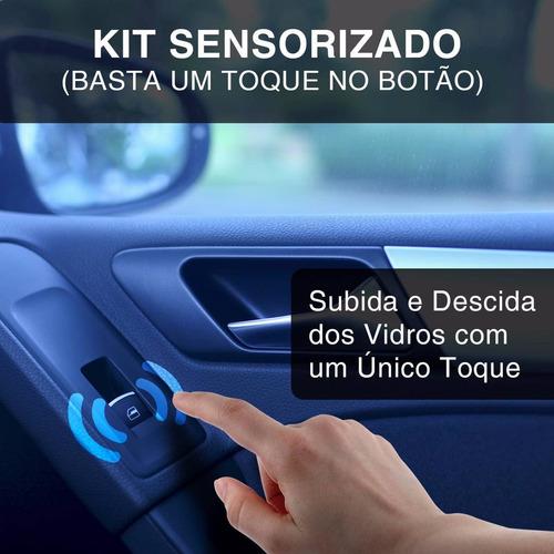 kit vidro eletrico l200 triton 12 a 18 dianteira sensorizado