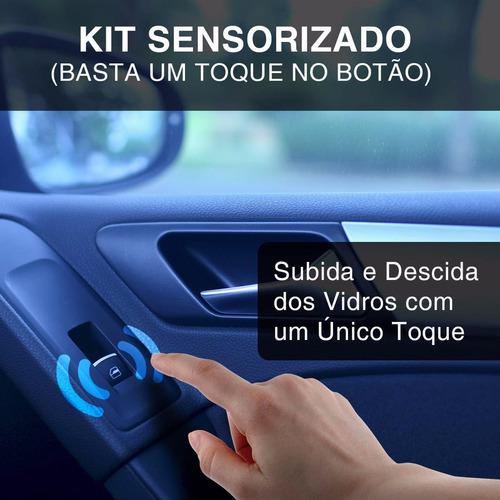 kit vidro eletrico renault sandero sensorizado dianteira