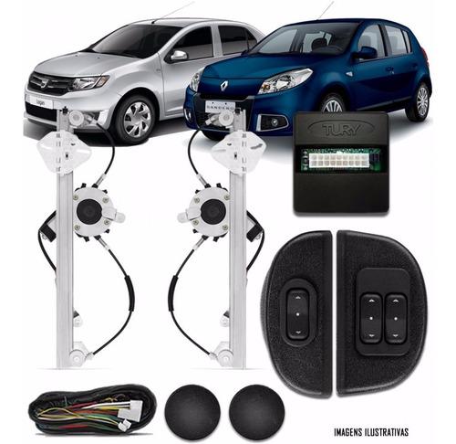 kit vidro elétrico sandero  dianteiro sensorizado