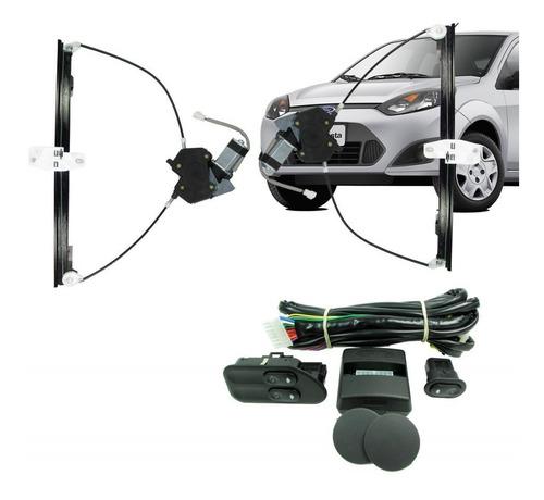 kit vidros elétricos dianteiros fiesta 2006 com módulo vidro