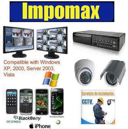 kit vigilancia dvr video seguridad 1tb ip 3g 4 camaras 24/7