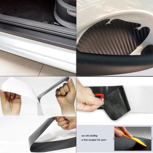 kit vinilo fibra carbono anti rayones puertas zocalos itz