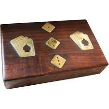 kit vintage - jogo de baralho e dados
