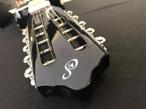 kit viola caipira acústica aço vs14  preta giannini completo