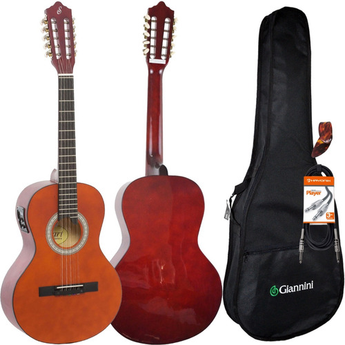 kit viola elétrica caipira giannini vs14 eq ns fosca capa