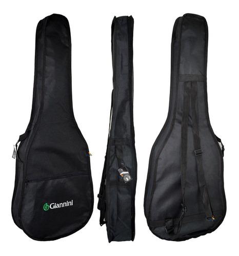 kit viola giannini vs14 caipira acústica  bk preta completo