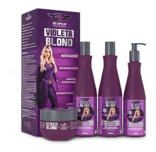 kit violeta blond - supermatizador da mary life