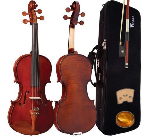 kit violino 4/4 ve441 eagle case arco com estante partitura