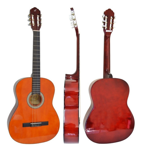 kit violão acústico nylon natural n14 start giannini + capa