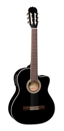 kit violão eagle ch800 elétrico clássico nylon preto + capa